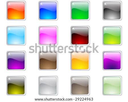 web buttons different colors vector illustration - stock vector