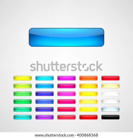 web buttons set - stock vector