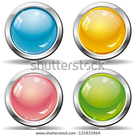 web buttons set for website or app. Vector esp 10 - stock vector
