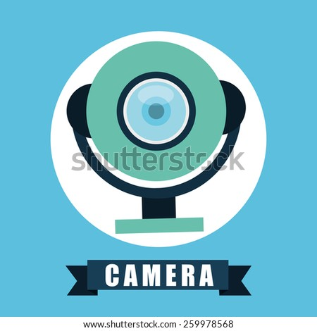 web cam design, vector illustration eps10 graphic  - stock vector