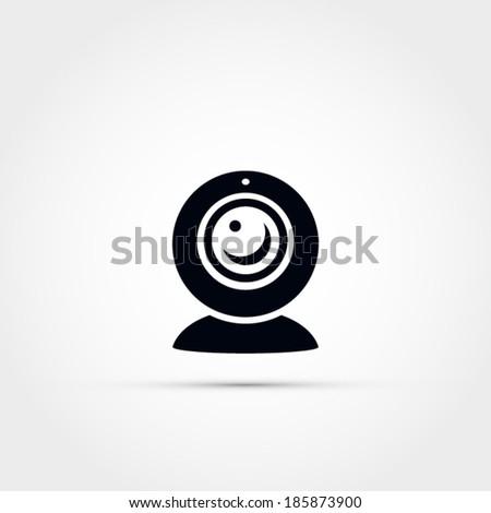 Web cam icon - stock vector