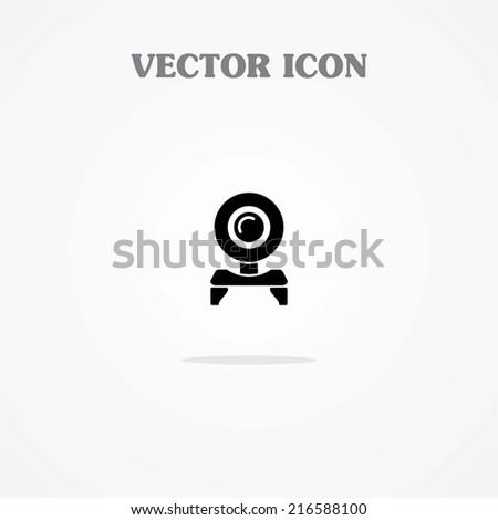 Web Cam Icon. - stock vector