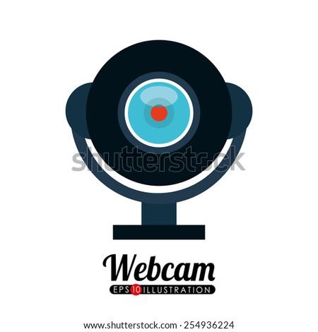 web camera design, vector illustration eps10 graphic  - stock vector