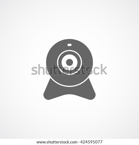 Web Camera Flat Icon On White Background