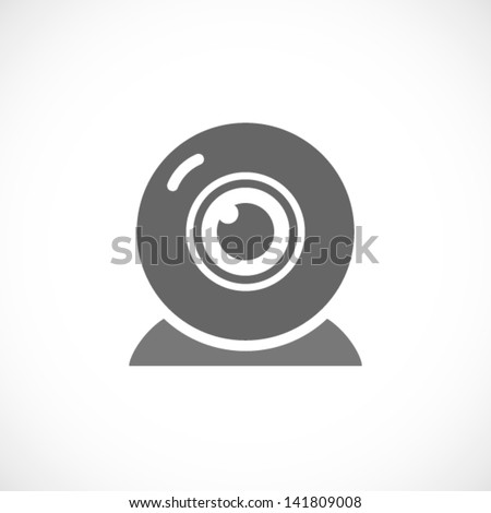 web camera icon - stock vector