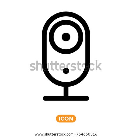 Web camera icon ip camera symbol stock vector 754650316 for Ip camera design tool
