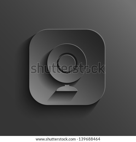 Web camera icon - vector black app button with shadow