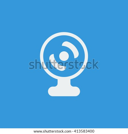web camera icon, web camera symbol, web camera vector, web camera eps, web camera image, web camera logo, web camera flat, web camera art design, web camera blue  - stock vector