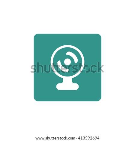 web camera icon, web camera symbol, web camera vector, web camera eps, web camera image, web camera logo, web camera flat, web camera art design, web camera green  - stock vector