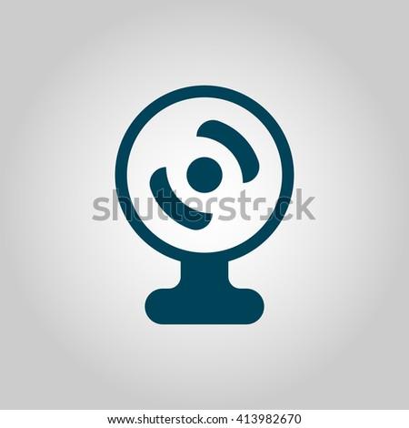 web camera icon, web camera symbol, web camera vector, web camera eps, web camera image, web camera logo, web camera flat, web camera art design, web camera grey  - stock vector