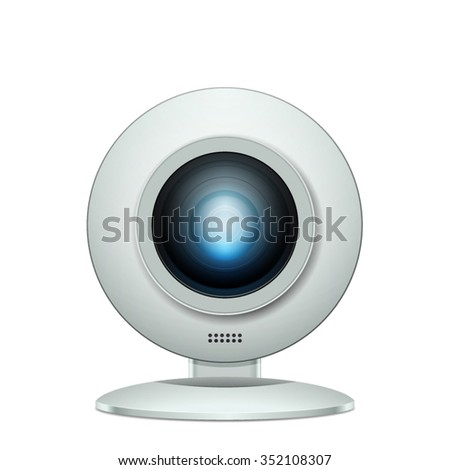 Web Camera realistic illustration