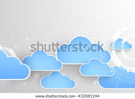 Web cloud technology business abstract background.  Vector - stock vector