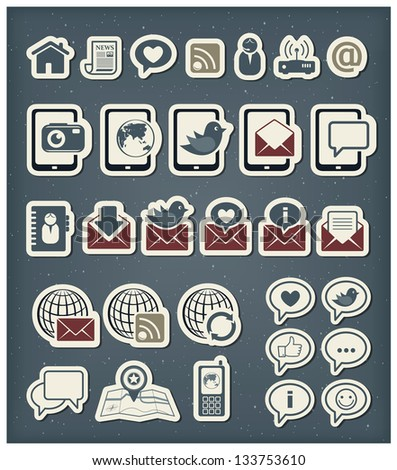 Web communication icons - stock vector