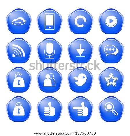 web, communication icons: internet vector set.