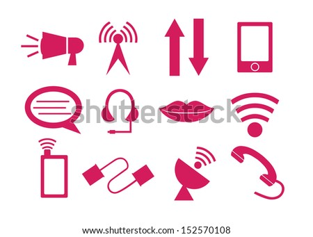 Web, communication icons: internet vector set. - stock vector