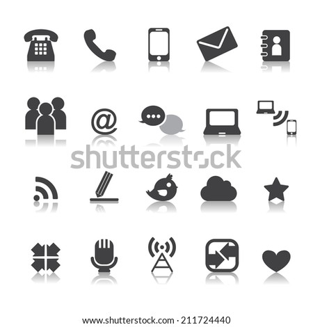 Web communication icons  internet vector set - stock vector