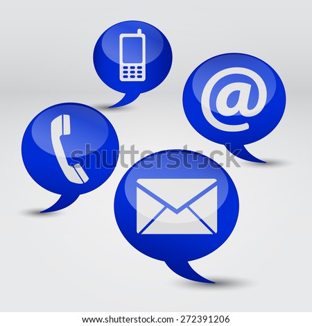 Web Contact Us Internet Concept Email Stock Vector 272391206