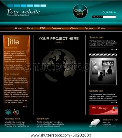 web design 3 - stock vector