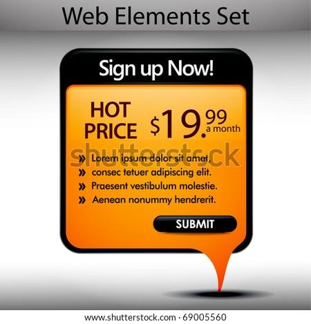 Web Design  banner Element Template, editable illustration - stock vector