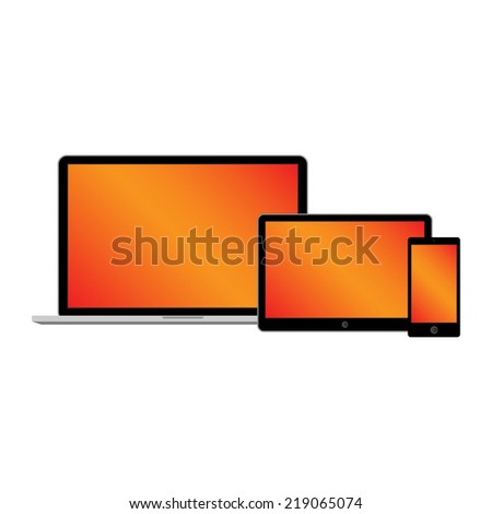 web design electronic devices vector