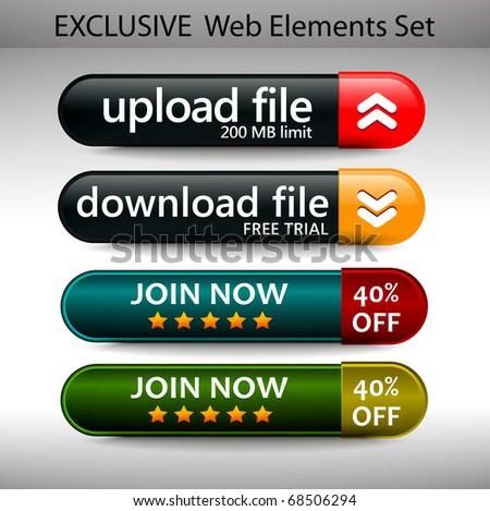 Web Design Element Template, editable illustration - stock vector