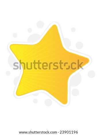 Web Design Element Vector Illustration - Star - stock vector