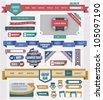 web design elements - stock vector
