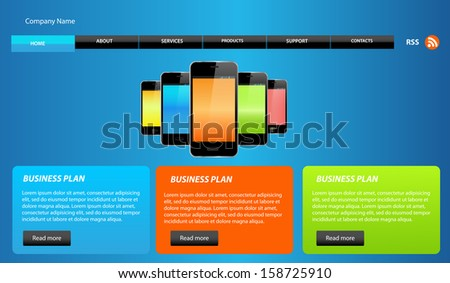 Web design elements for web design. - stock vector
