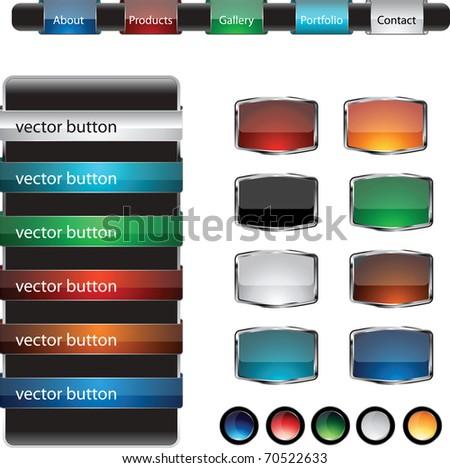 Web Design Frame buttons Vector set - stock vector