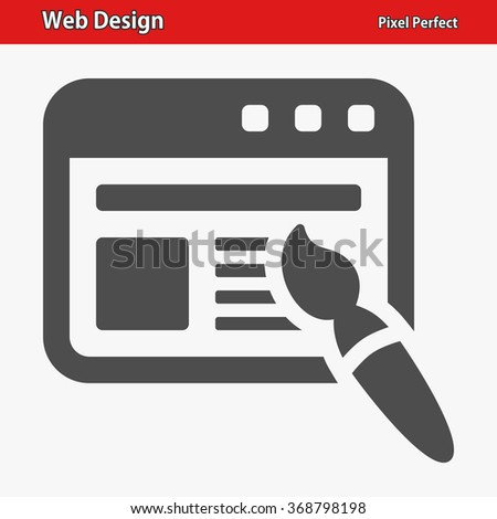 Web Design Icon. Professional, pixel perfect icons optimized for both large and small resolutions. EPS 8 format. - stock vector