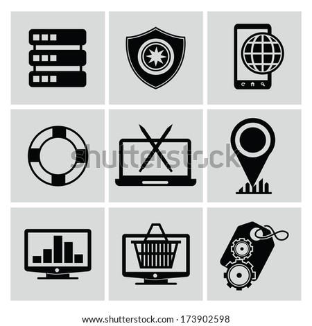 Web design icons,vector - stock vector