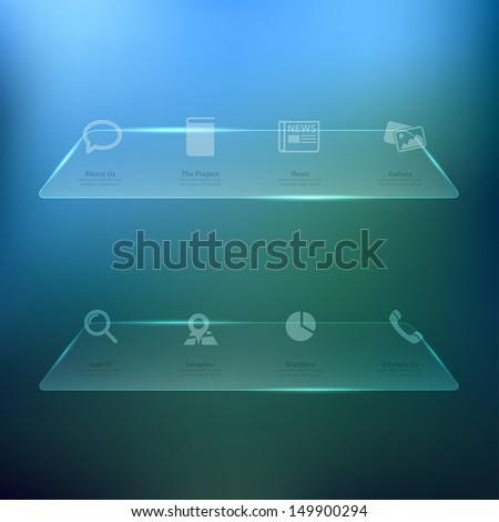 Web design Menu template  - stock vector