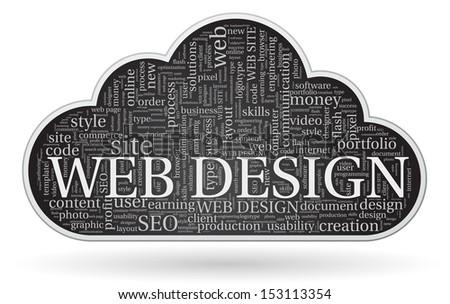 web design tagcloud concept - stock vector