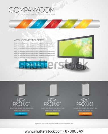 web design template easy to edit - stock vector