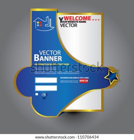 Web design template,Vector - stock vector