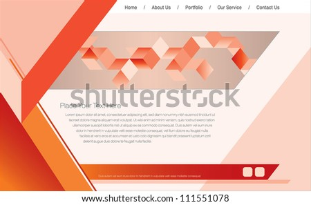 Web Design Template/Vector Illustration - stock vector