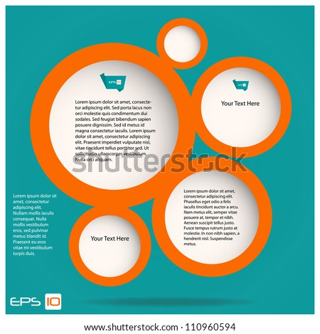 Web Design Vector Bubbles Illustration - stock vector