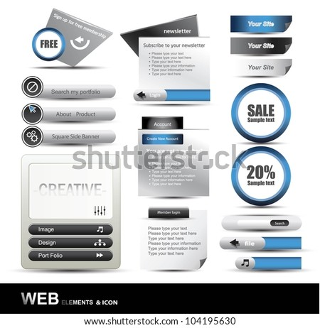 Web Design Website Element Vector - stock vector