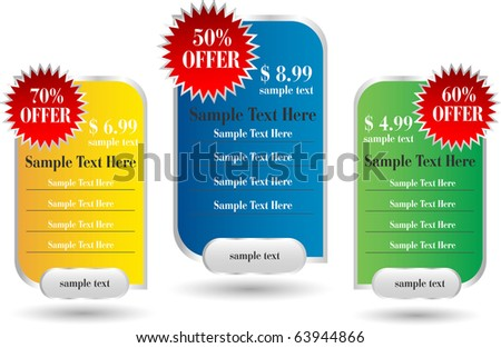 web designer sale banners - stock vector