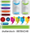 web designing element set - stock vector