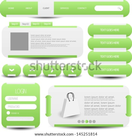 web designing element set