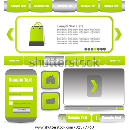 web designing elements with navigation pack