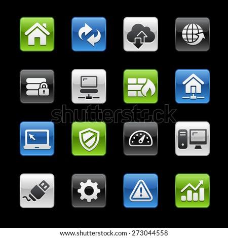 Web Developer Icons // Gelbox Series - stock vector