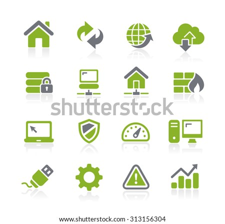 Web Developer Icons // Natura Series - stock vector