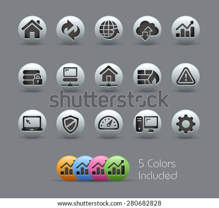 Web Developer Icons // Pearly Series - stock vector