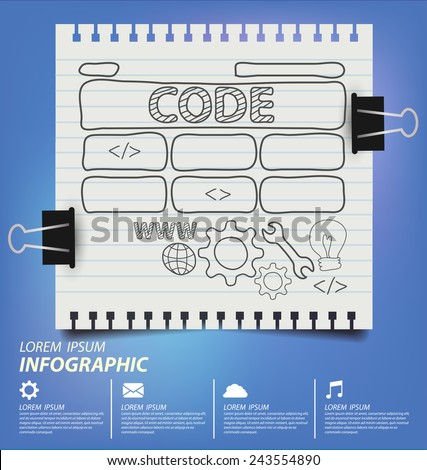 Web Development concept vector EPS10 - stock vector