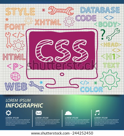 Web Development concept vector Illustration - stock vector