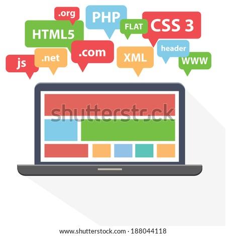Web Development design,vector - stock vector