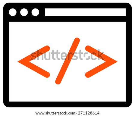 Web development icon - stock vector