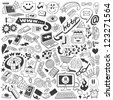 Web doodles collection - stock vector